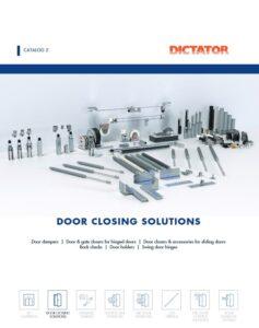 New Door Closing Solutions Catalogue