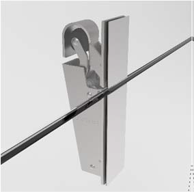 Mounting kit for all-glass doors gluing